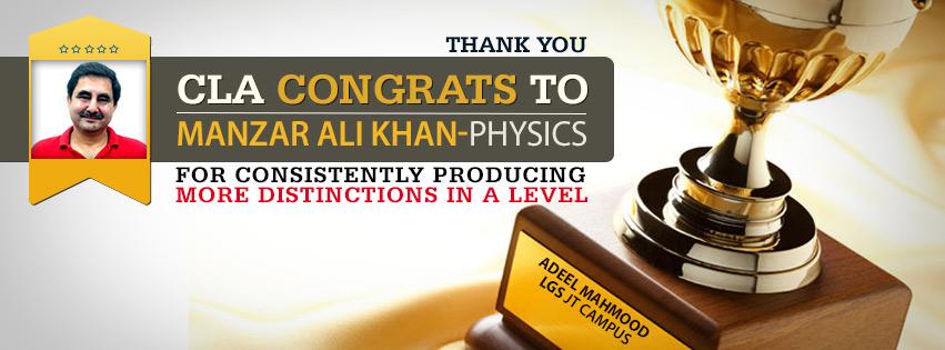Congrats to Manzar Ali Khan